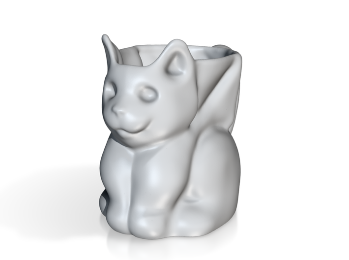 Bat cat mug 3d printed