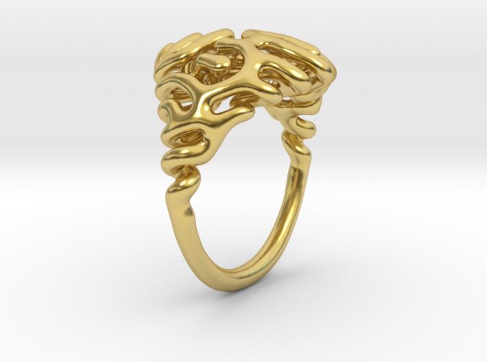 Reaction Diffusion Ring  3d printed
