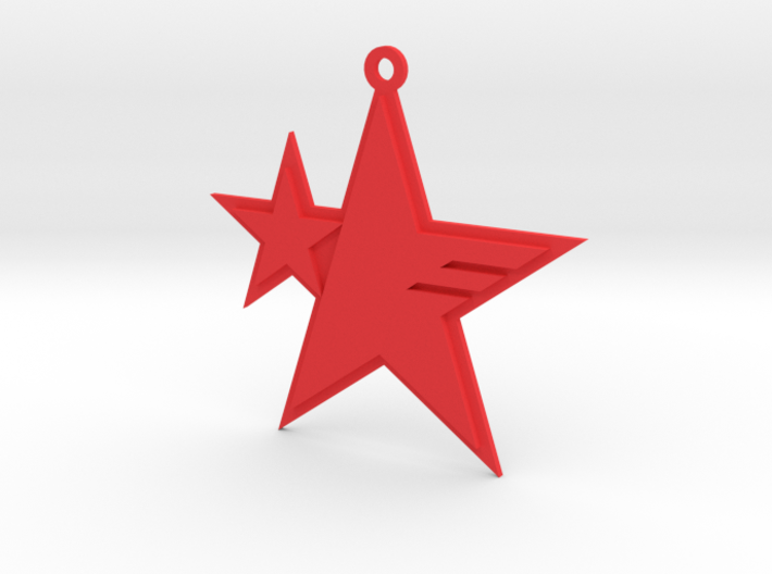 Sonic Forces - Resistance Star Pendant 3d printed