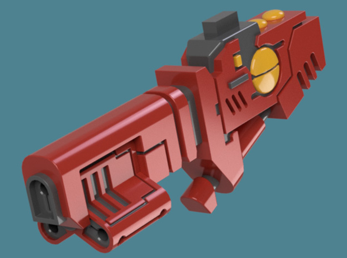 Cyclic Ion Blaster bits, pack of 4/6/9/10/13 3d printed A single weapon's render 1