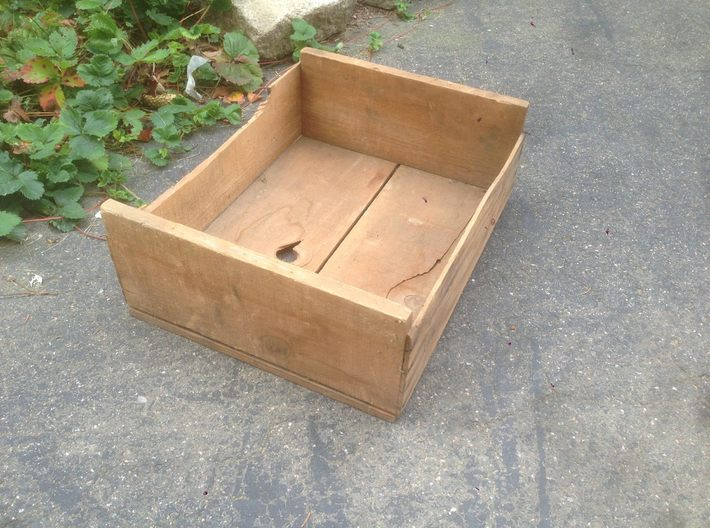 Soft Fruit Shipping Crates HO Scale 3d printed Prototype box from basement