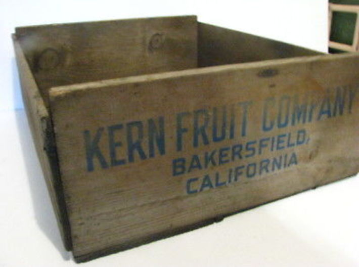 Soft Fruit Shipping Crates HO Scale 3d printed Prototype box