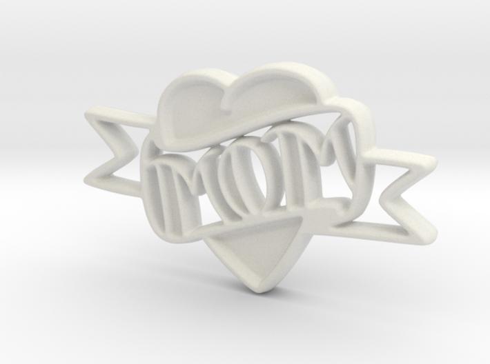 Creator Heart Pendant 3d printed