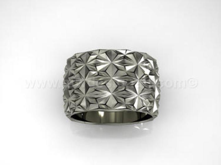 Complex Geometric Triangle Pattern Band - Simple 3d printed Repeating Tirangle Pattern Band