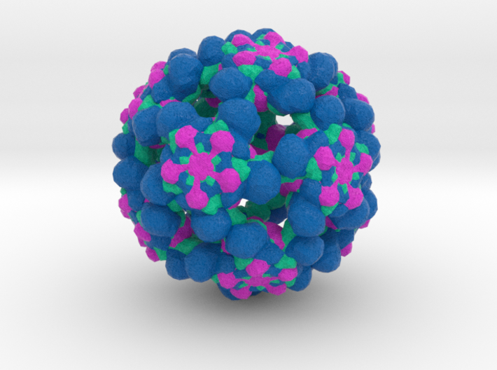 Coxsackievirus Virus-Like Particle 3d printed