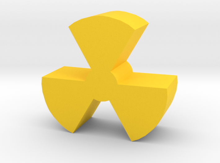 Game Piece, Radiation Symbol 3d printed