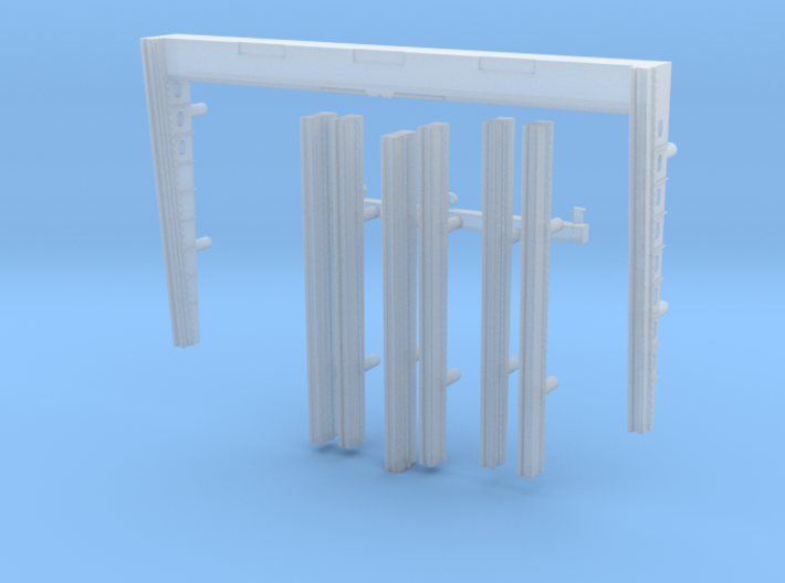 1:350 Scale USS Enterprise Elevator Guides 3d printed