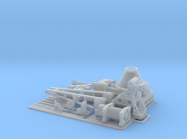 1 x Hunt Class Lower deck Crane Open Frame 1/48 3d printed