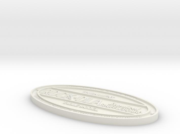 Rock-Ola Shuffleboard Badge 3d printed