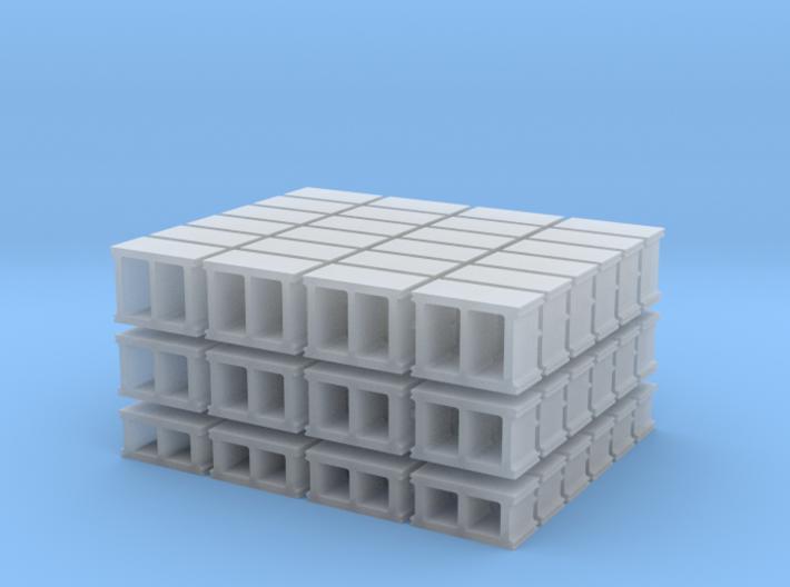 1-72_cinderblock set 3d printed