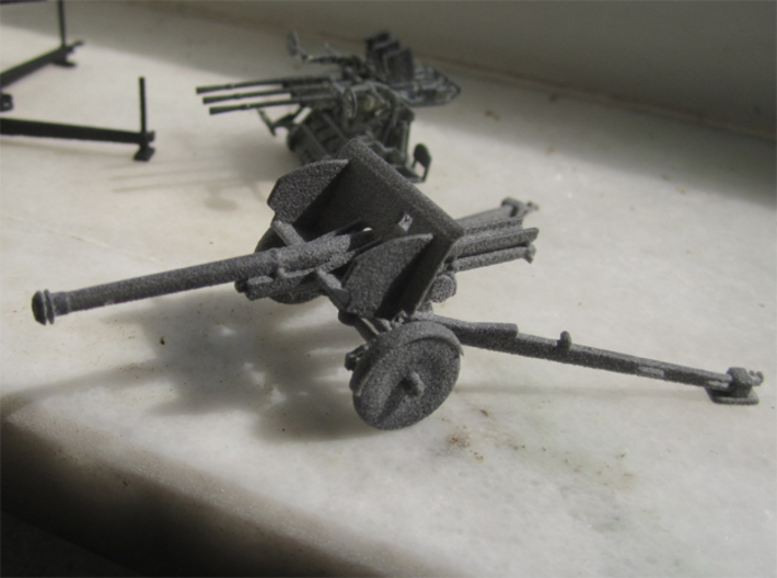 1/72 IJA Type 90 75mm Field Gun 3d printed Printed in HP Gray Strong and Flexible plastic
