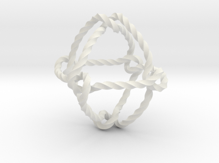 Octahedral knot (Twisted square) 3d printed