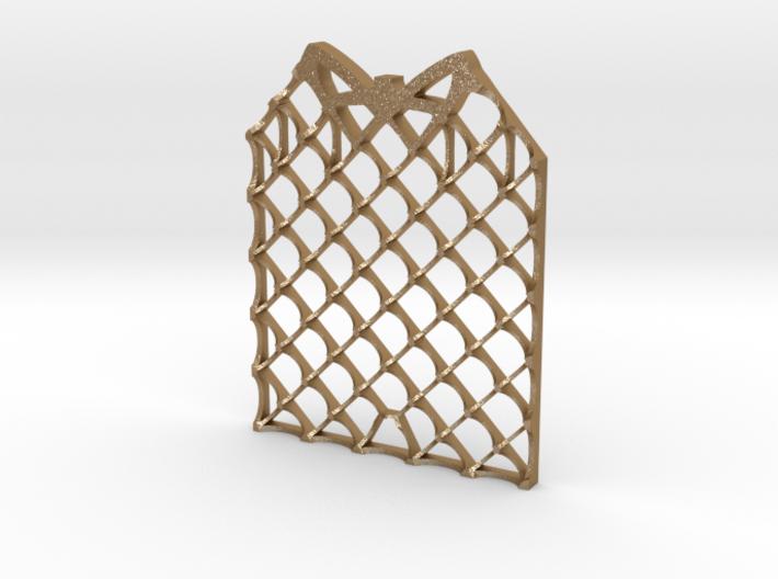 Grid Fin Coaster 3d printed