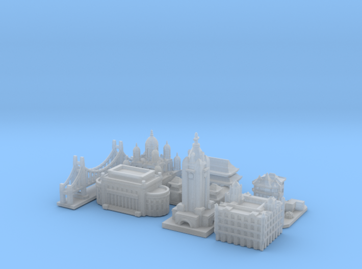 Victory Cities #1: Pacific (Smaller) 3d printed