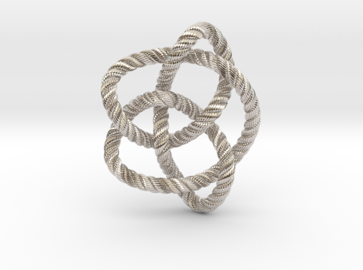 Knot 8₁₆ (Rope with detail) 3d printed