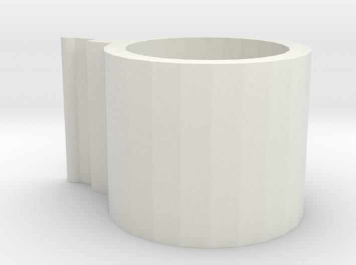 Fence Pipe Hinge Bracket Part 1 3d printed