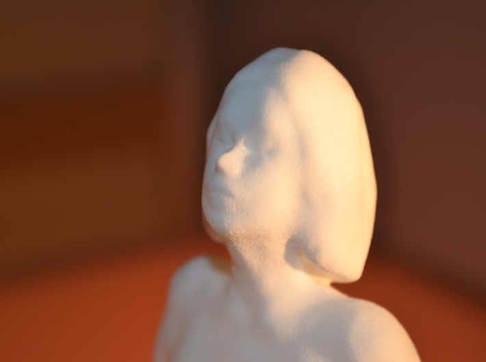 Seated nude model 3d printed Photo 3D printed Model