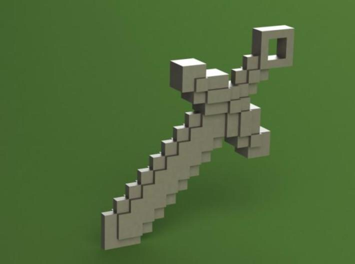 Minecraft - Sword 3d printed SW Render