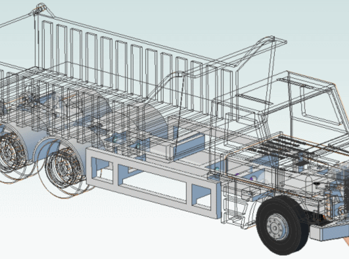 HO: Scania chassis (Work in progress) 3d printed lorry chassis