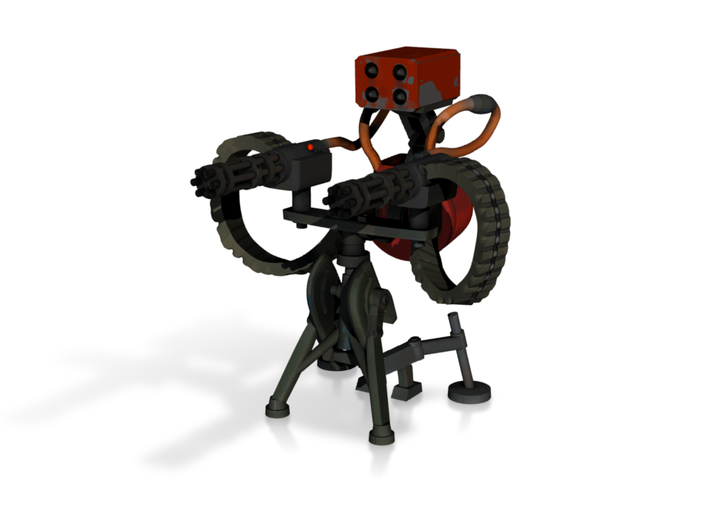 TF2 sentry level 3 (textured model) 3d printed