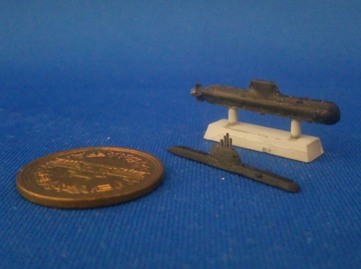 1/2000 Type 214 submarine 3d printed painted