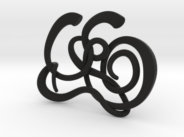 Gijsbrechts Calligraphy Pendant 3d printed