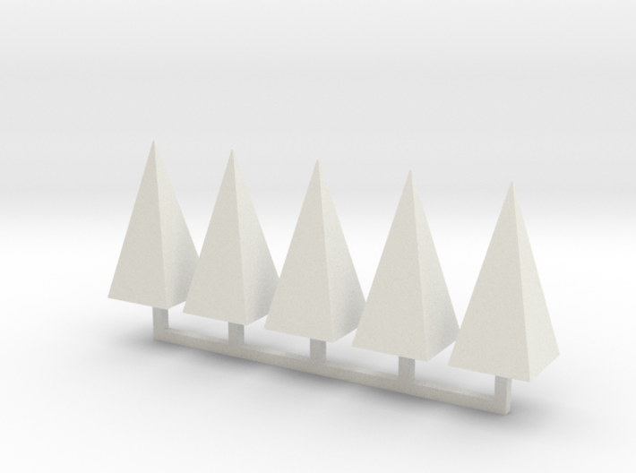 Parkhecke Buchsbaum Pyramide 1:120 3d printed