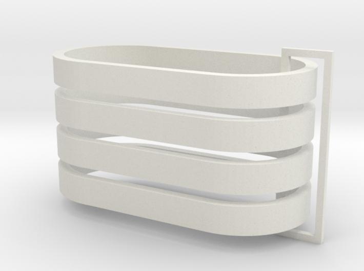 Parkhecke oval (Buchsbaum) 4er Set 1:120 3d printed