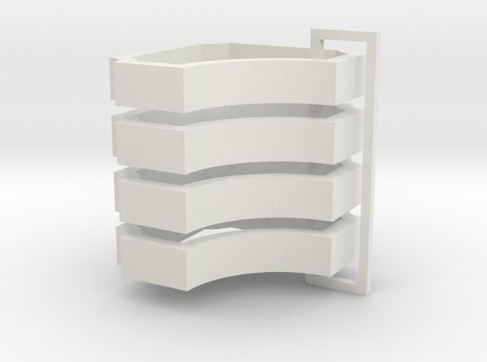 Parkhecke quadratisch einfach ausgerundet Ecken ei 3d printed