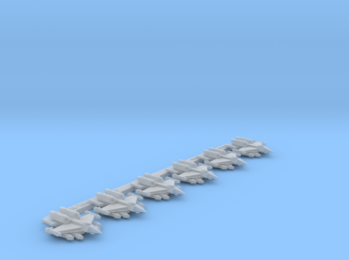 """Omni Scale Federation F-15 """"Eagle"""" Fighters MGL 3d printed"""