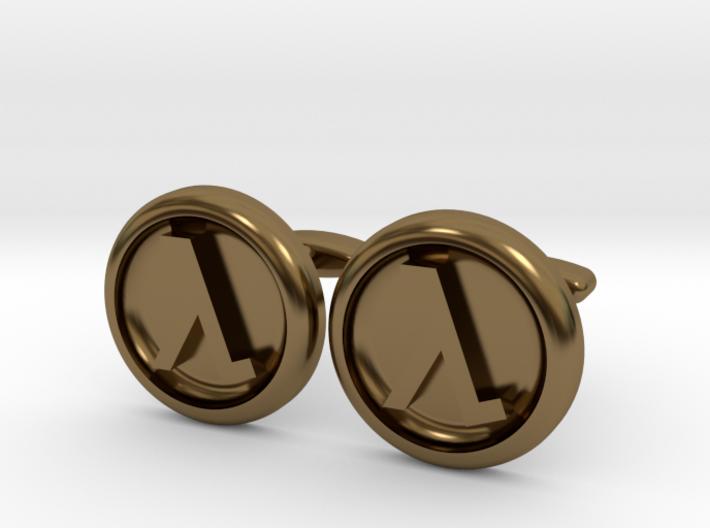 Half-Life Logo Cufflinks 3d printed
