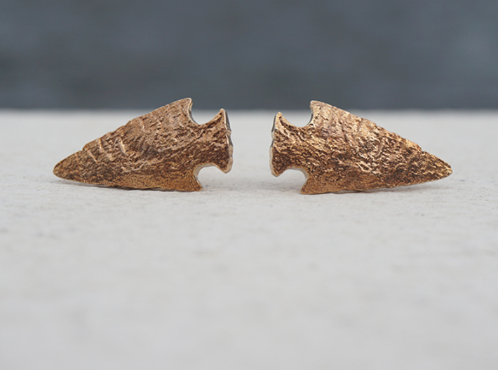Arrowhead Cufflinks 3d printed