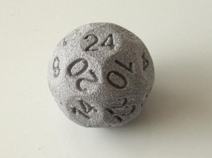 D24 Sphere Dice 3d printed In Alumide