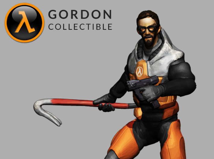 Gordon Freeman Desktop Collectible 3d printed