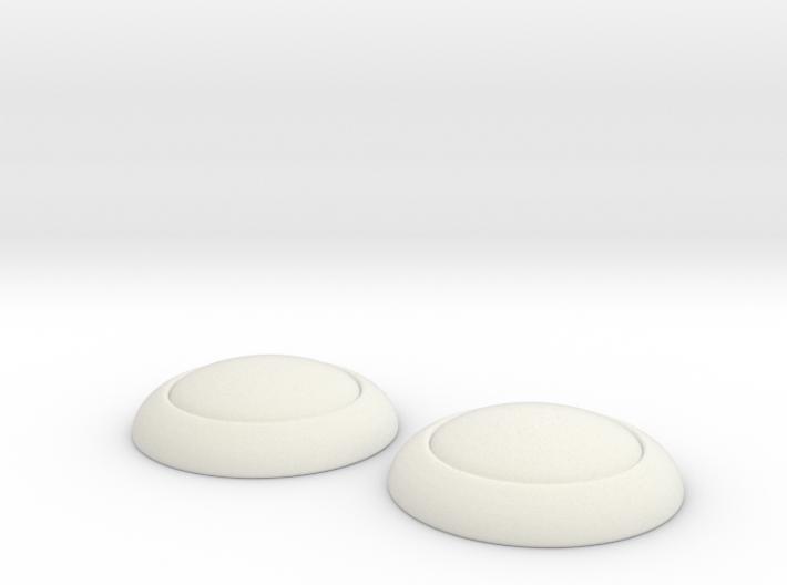 Sailor moon Dango Shields: 1/4 scale 3d printed