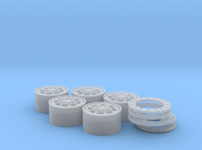 hummer h1 beadlock for Meng model 3d printed