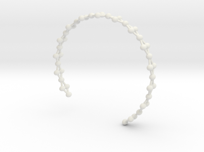 Frustrated Chain Cuff 3d printed