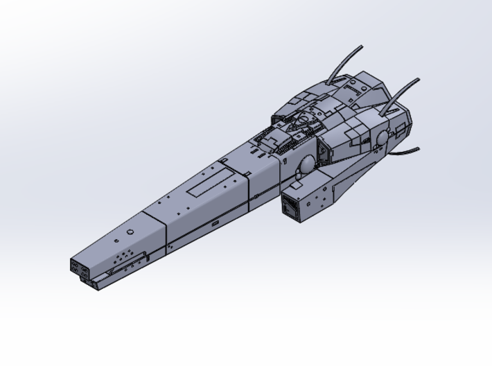 LoGH Imperial Asgrimm 1:3000 (Part 1/2) 3d printed
