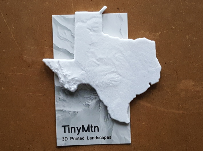 Texas Christmas Ornament 3d printed