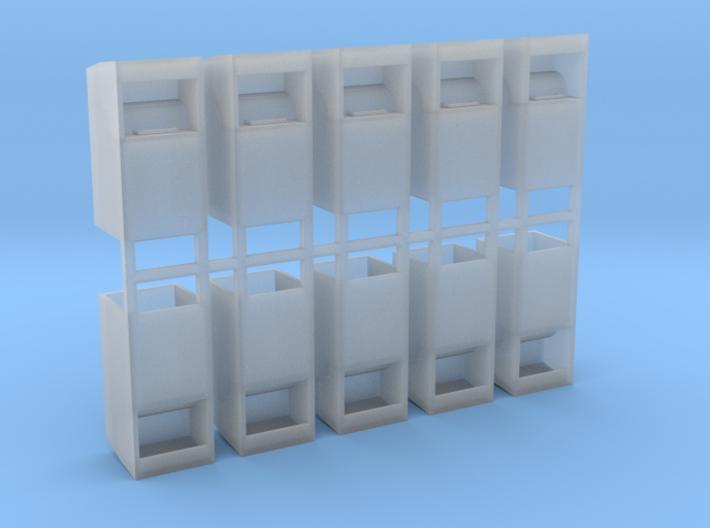 Altkleidercontainer 10er Set 1:87 H0 3d printed