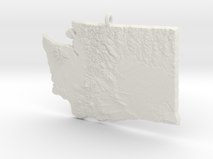 Washington Christmas Ornament 3d printed