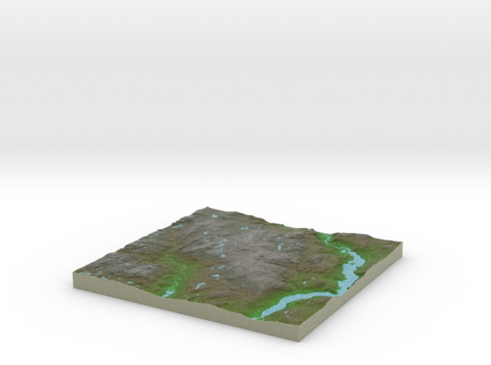 Terrafab generated model Wed Jun 28 2017 22:28:03 3d printed