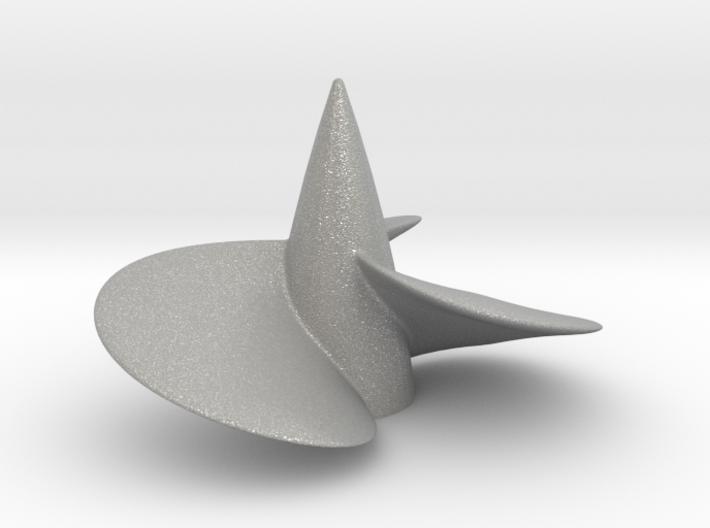 Single left hand ship propeller f. Bismarck/Tirpi 3d printed