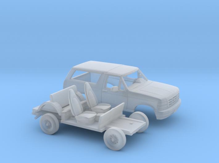 1/87 1992-96 Ford Bronco Kit 3d printed