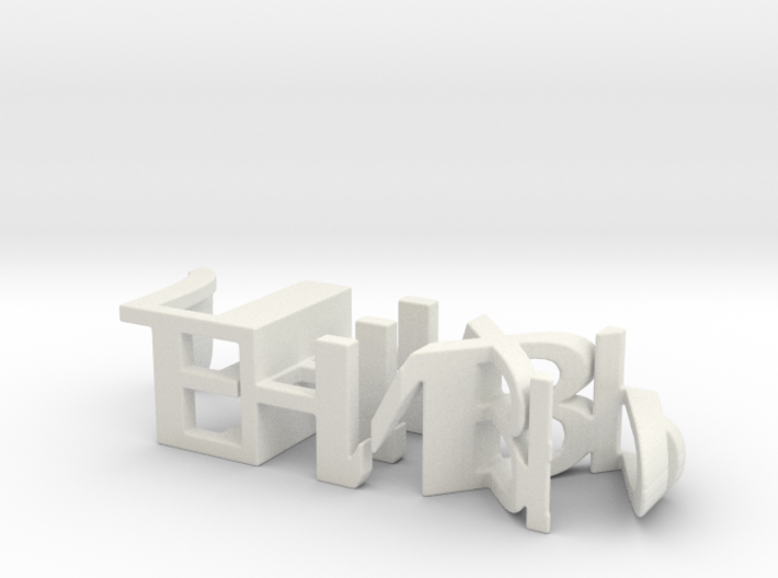 3dWordFlip: ЛЕНИВЫЙ/ЛЕХА 3d printed