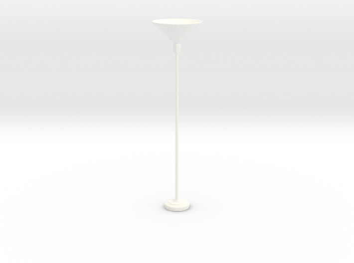 'Retro Living' Floor Lamp 1:12 Dollhouse 3d printed