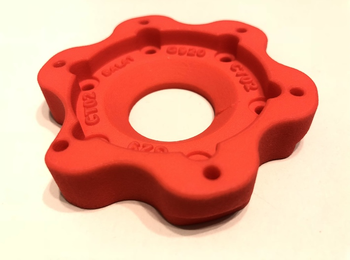 Logitech G29 and G920 compatible adapter 3d printed Final test print from shapeways