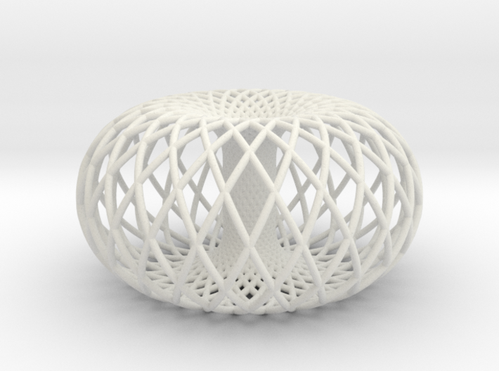 Torus w/2 sets of 24 circles 3d printed