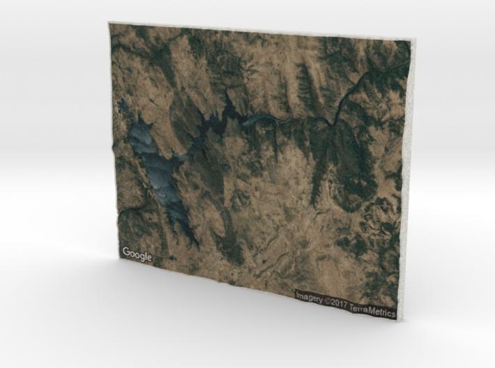 Pardee Reservoir 3d printed