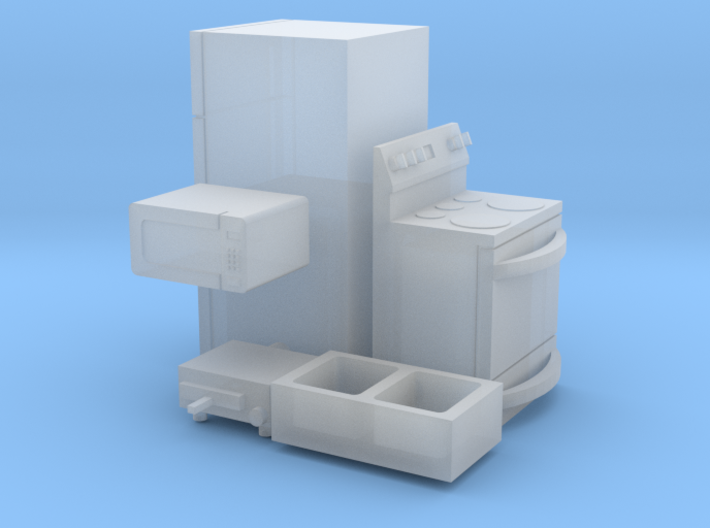 1/64 scale Kitchen Accessories 3d printed